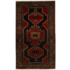 Handmade Herat Oriental Persian Tribal Hamadan Wool Rug (Iran) - 4'3 x 7'2