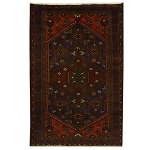 Handmade Herat Oriental Persian Tribal Hamadan Wool Rug (Iran) - 4'3 x 6'5