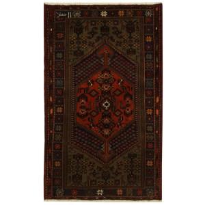 Handmade Herat Oriental Persian Tribal Hamadan Wool Rug (Iran) - 4'3 x 6'8