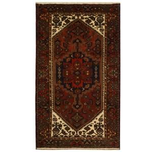 Handmade Herat Oriental Persian Tribal Hamadan Wool Rug (Iran) - 4' x 6'9
