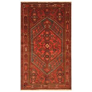 Handmade Herat Oriental Persian Tribal Hamadan Wool Rug (Iran) - 3'11 x 6'9