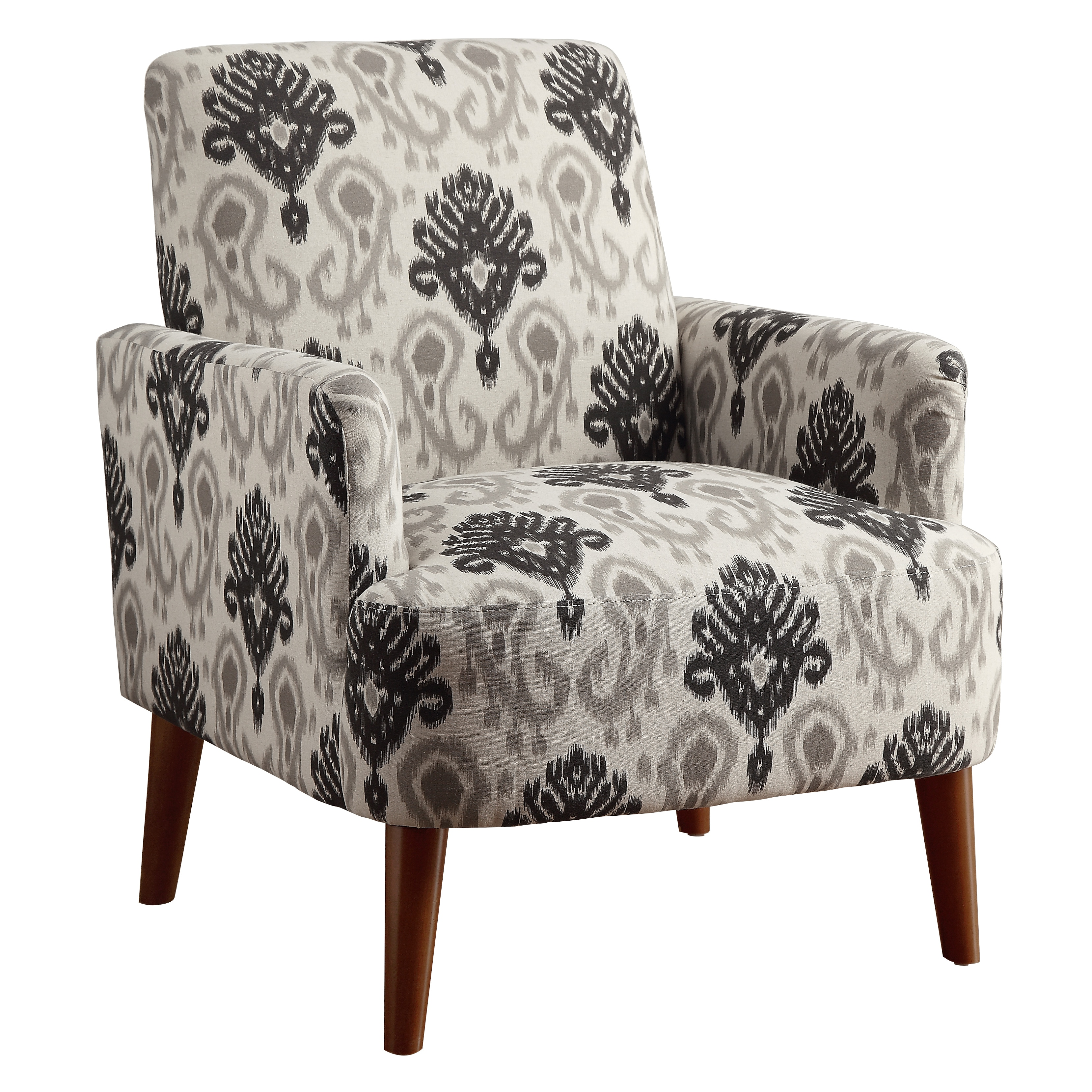 floral print accent chairs plastic chair covers amazon furniture of america learine contemporary upholstered image is loading