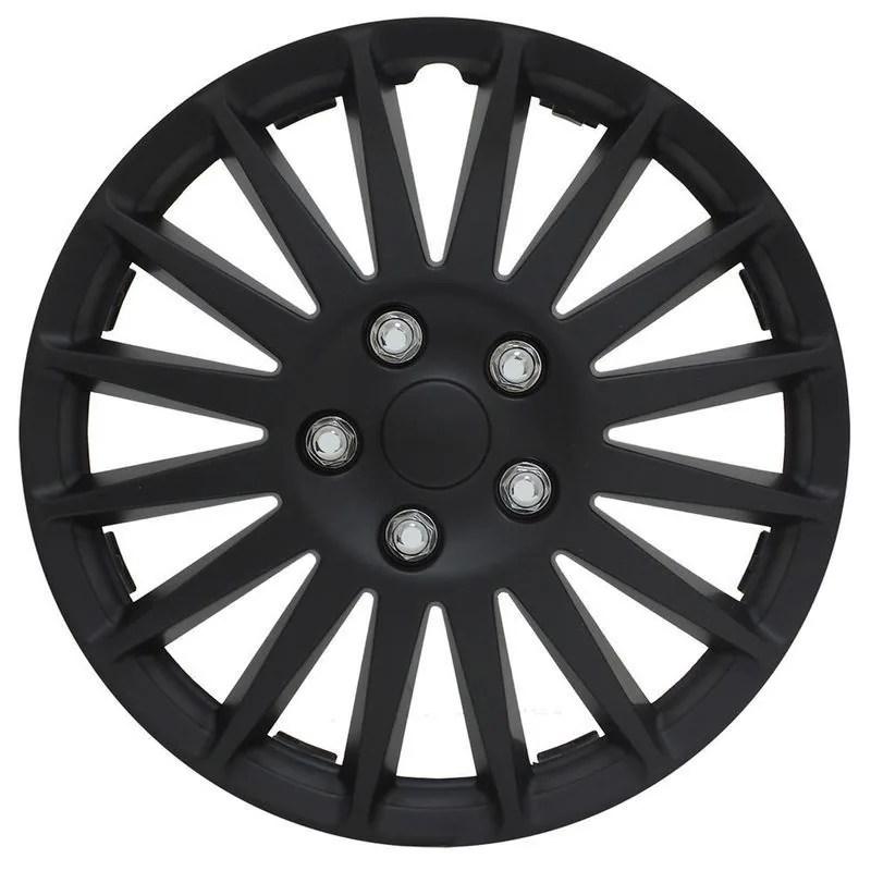 Pilot Automotive 4-piece Set All Black 14-inch Indy Wheel Cover