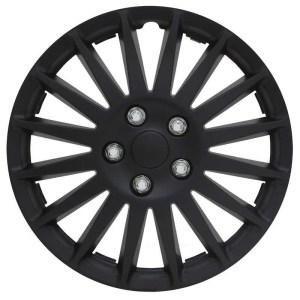Pilot Automotive 4-piece Set All Black 16-inch Indy Wheel Cover