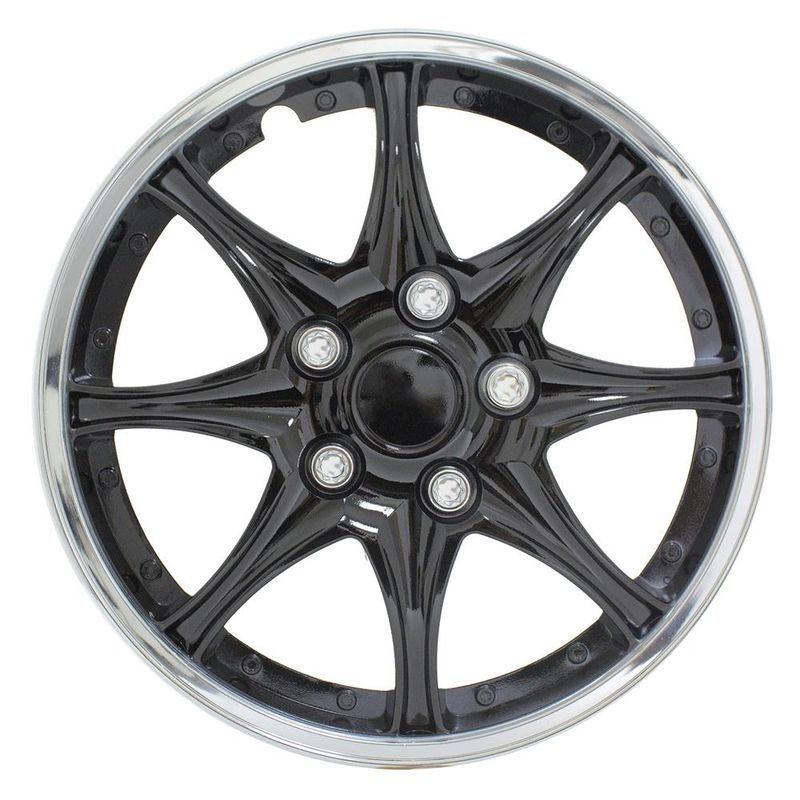 Pilot Automotive 4-piece Set Black Chrome 14-inch Wheel Cover