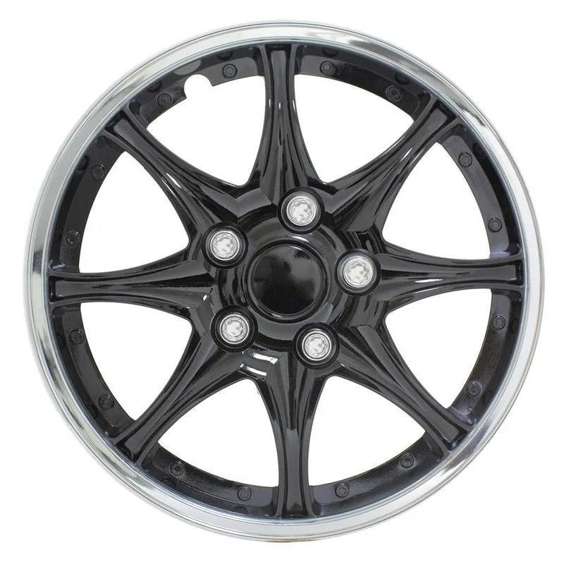 Pilot Automotive 4-piece Set Black Chrome 15-inch Wheel Cover