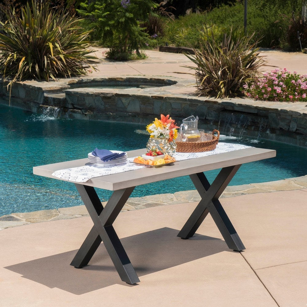 buy concrete outdoor dining tables