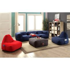 Living Room Bean Bags Metallic Cowhide Rug In Shop Frameless Cozy Bag Style Sofa Set Free