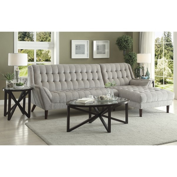 retro style living room furniture pop ceiling designs for india shop mid century modern grey sectional sofa free shipping today overstock com 16287337