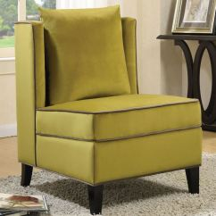 Yellow And Grey Chair Quill Ergonomic Shop Living Room Velvet Accent With Piping Free