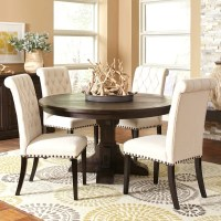 Shop French Baroque Designed Round Dining Set with Rolled ...