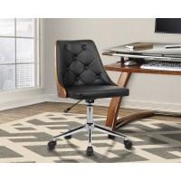 Shop Armen Living Diamond Mid-Century Office Chair in ...