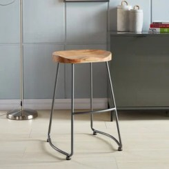 Shop for Moka Solid Wood and Metal Counter Stool (Set of 2). Get free shipping at Overstock - Your Online Furniture Outlet Store! Get 5% in rewards with Club O! - 16341602