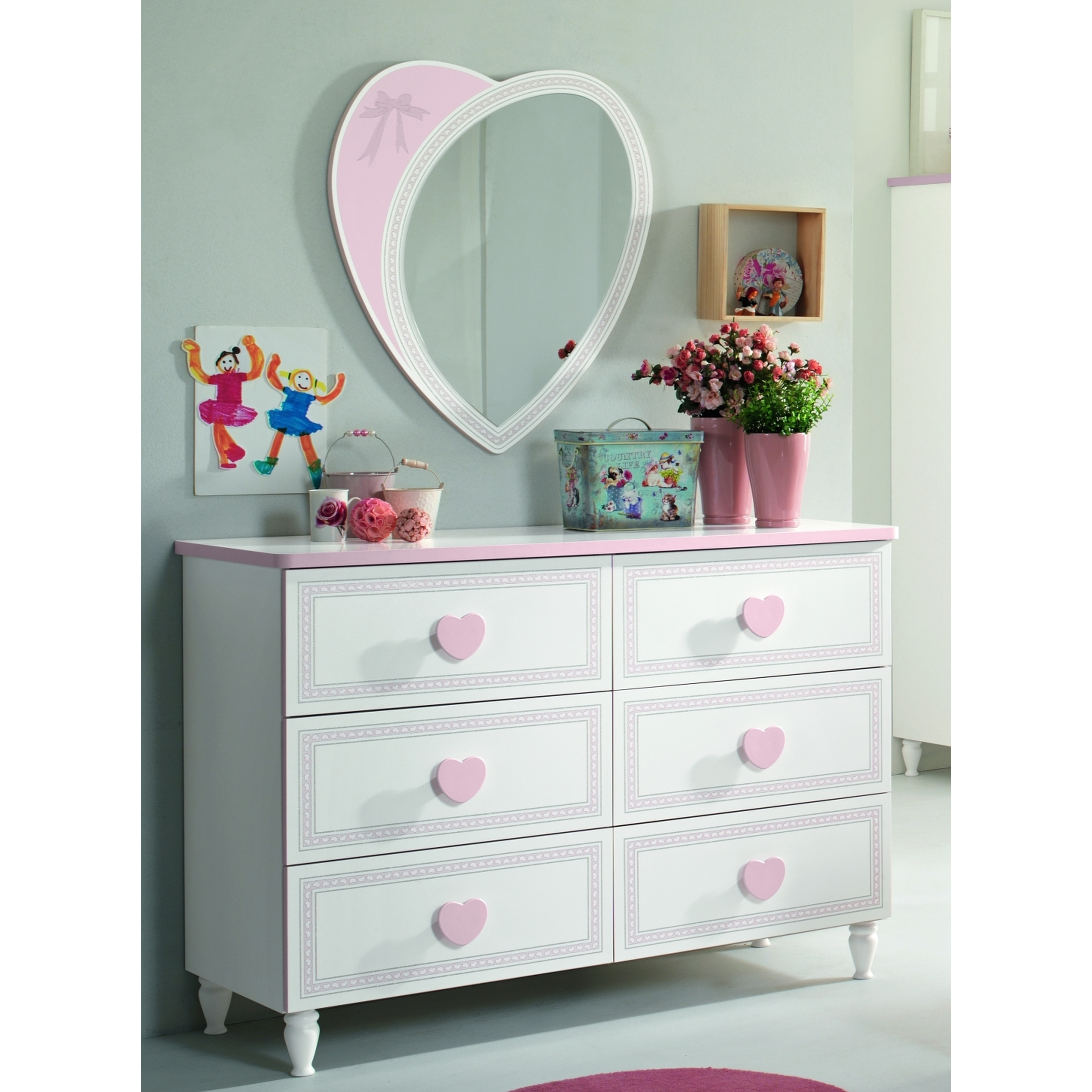my youth princess 6 drawer dresser with mirror