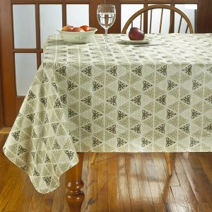 Prism Print Heavyweight Vinyl Tablecloth With Soft Flannel Backing