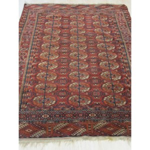 Baluchi Red Wool Geometric Hand-knotted Area Rug (3'10x5'2)