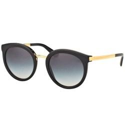 b67177d95d9e Shop Dolce   Gabbana Dg 4268 501 8G Black Plastic Round Sunglasses