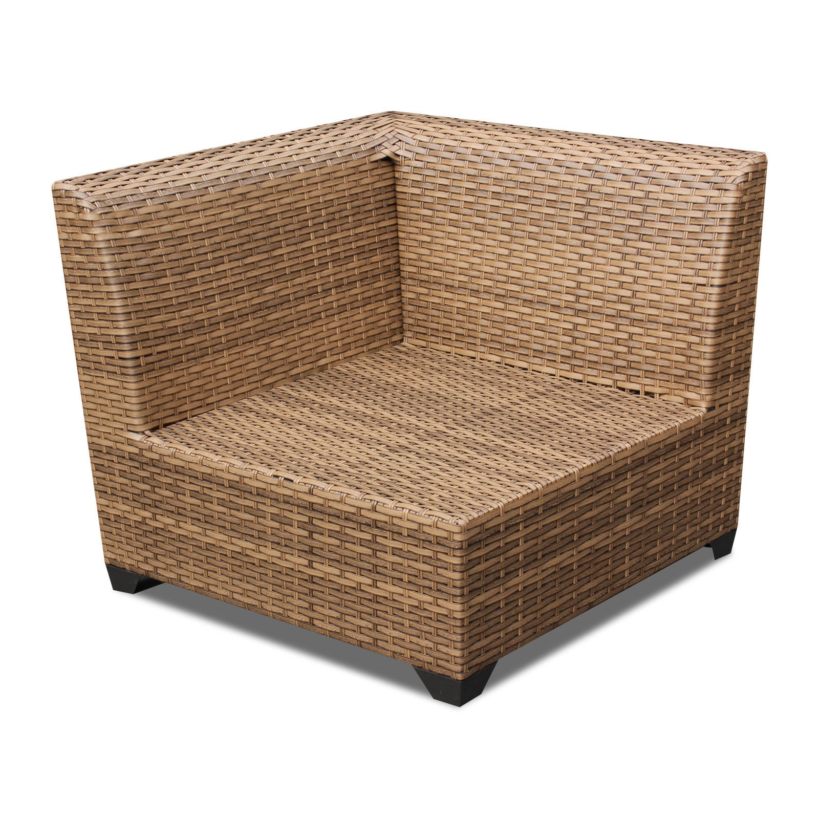 outdoor home bayou wicker 7 piece outdoor patio sectional with storage table