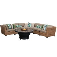 Shop Outdoor Home Bayou Wicker Outdoor Patio Sectional ...