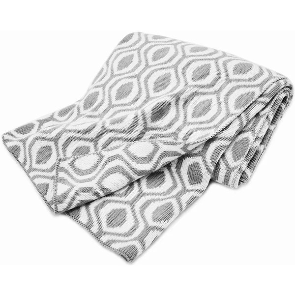 Shop American Baby Company Grey Ogee 100-percent Cotton