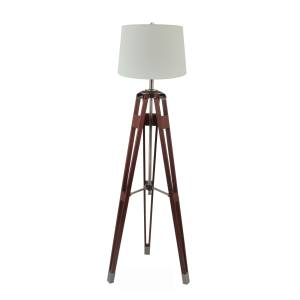 Briarwood Home Decor Surveyor Tripod Wood Floor Lamp