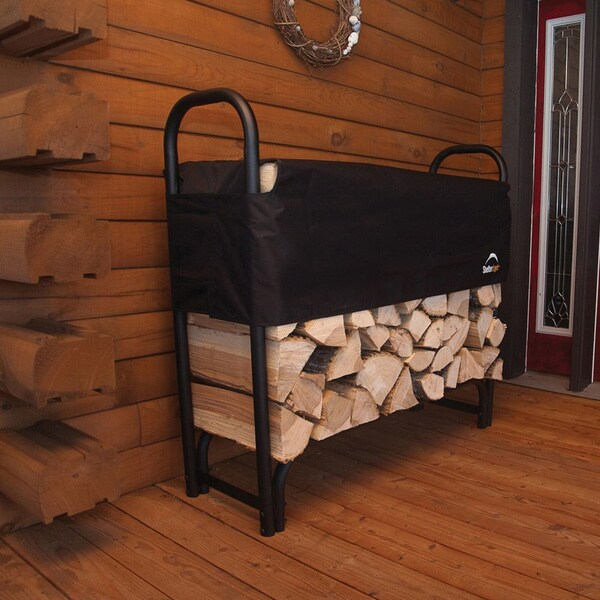 Shop Heavy Duty Firewood Rack With Cover Free Shipping