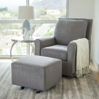 recliner chair with ottoman manufacturers desk seat cushion buy ottomans gliders rockers online at overstock com our best abbyson shiloh fabric gliding and