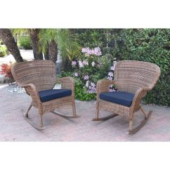 Windsor Rocking Chair Cushions Exercises For Elderly Shop Jeco Honey Resin Wicker Rocker With Set Of 2