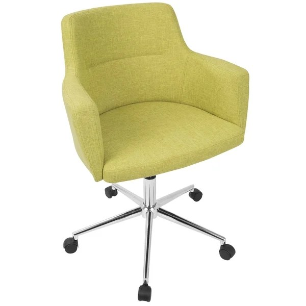 office chair overstock lift chairs for rent shop andrew contemporary in fabric free shipping