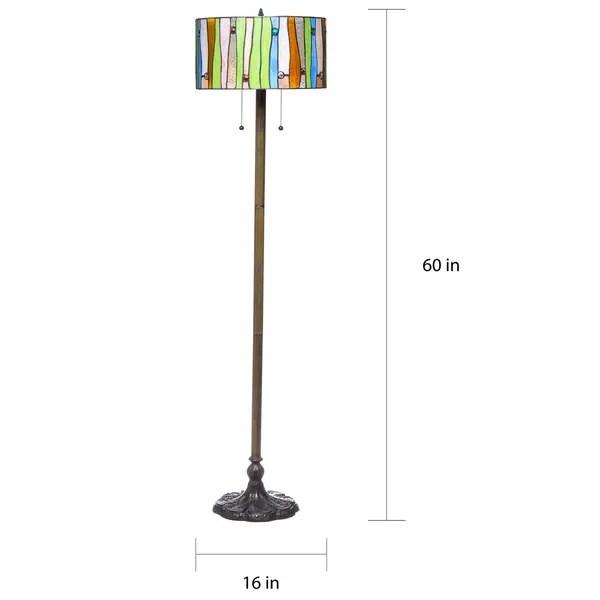 Shop Serena D Italia Tiffany Style Drum Contemporary Floor Lamp Overstock 16739892