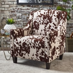 Christopher Knight Club Chair Threshold Windsor Dining Black Elysabeth Cow Print Velvet By Home Ebay Details About