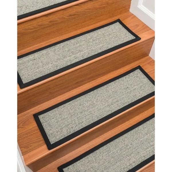 Shop Gardner Sisal Carpet Stair Treads Set Of 13 13Pc 9 X 29   Plush Carpet Stair Treads   Dog Cat Pet   Iron Frost   Carpet Runners   True Bullnose Carpet   Bullnose