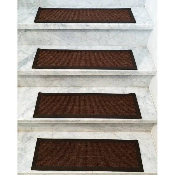 Shop Grayton Wool Sisal Carpet Stair Treads Set Of 13 13Pc 9 | Wool Carpet Stair Treads | Flooring | Zealand Wool | Beige Carpet | Cat Pet | Hardwood Stairs