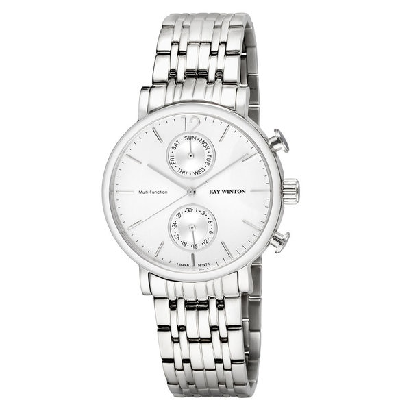 Shop Ray Winton Men's WI0608 Multi-Function Silver Dial
