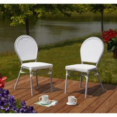Paris Bistro Chairs Outdoor Rattan And Table Shop Simple Living Set Of 2 Free Shipping