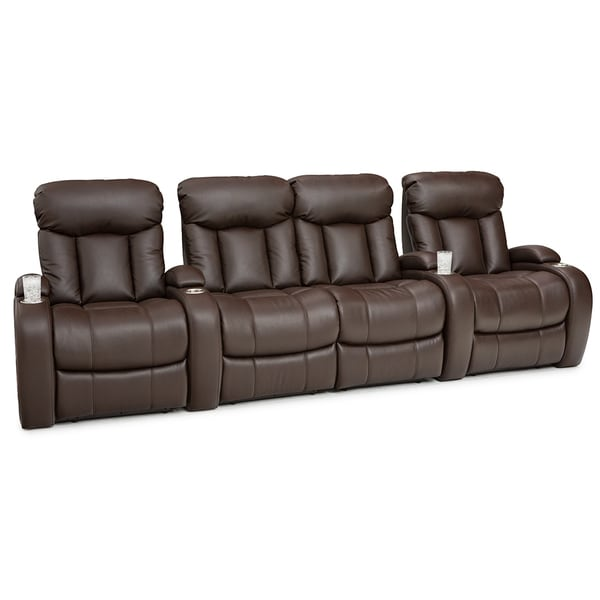 theater chairs best buy posture seat office shop seatcraft sausalito leather gel home seating manual recline with cup holders brown row of 4