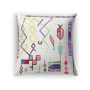 Kavka Designs blue/ red/ pink/ yellow lilly accent pillow with insert