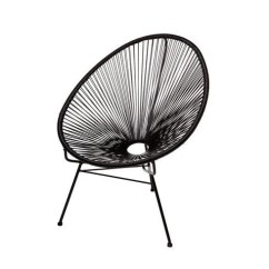 Papa San Chair Hanging Plans Shop Acapulco Black Metal Papasan Free Shipping Today Overstock Com 16943389