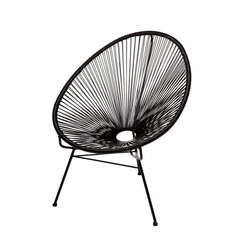 metal papasan chair ashley furniture office chairs shop acapulco black free shipping today overstock com 16943389