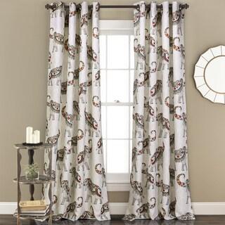 Shop Lush Decor Elephant Parade Room Darkening 84 Inch Curtain Panel Pair Free Shipping On