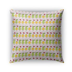 Kavka Designs pink; yellow; green cocktails outdoor pillow with insert