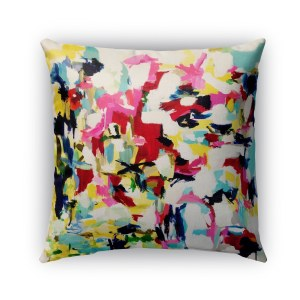 Kavka Designs pink; blue; yellow; green hollywood haux outdoor pillow with insert