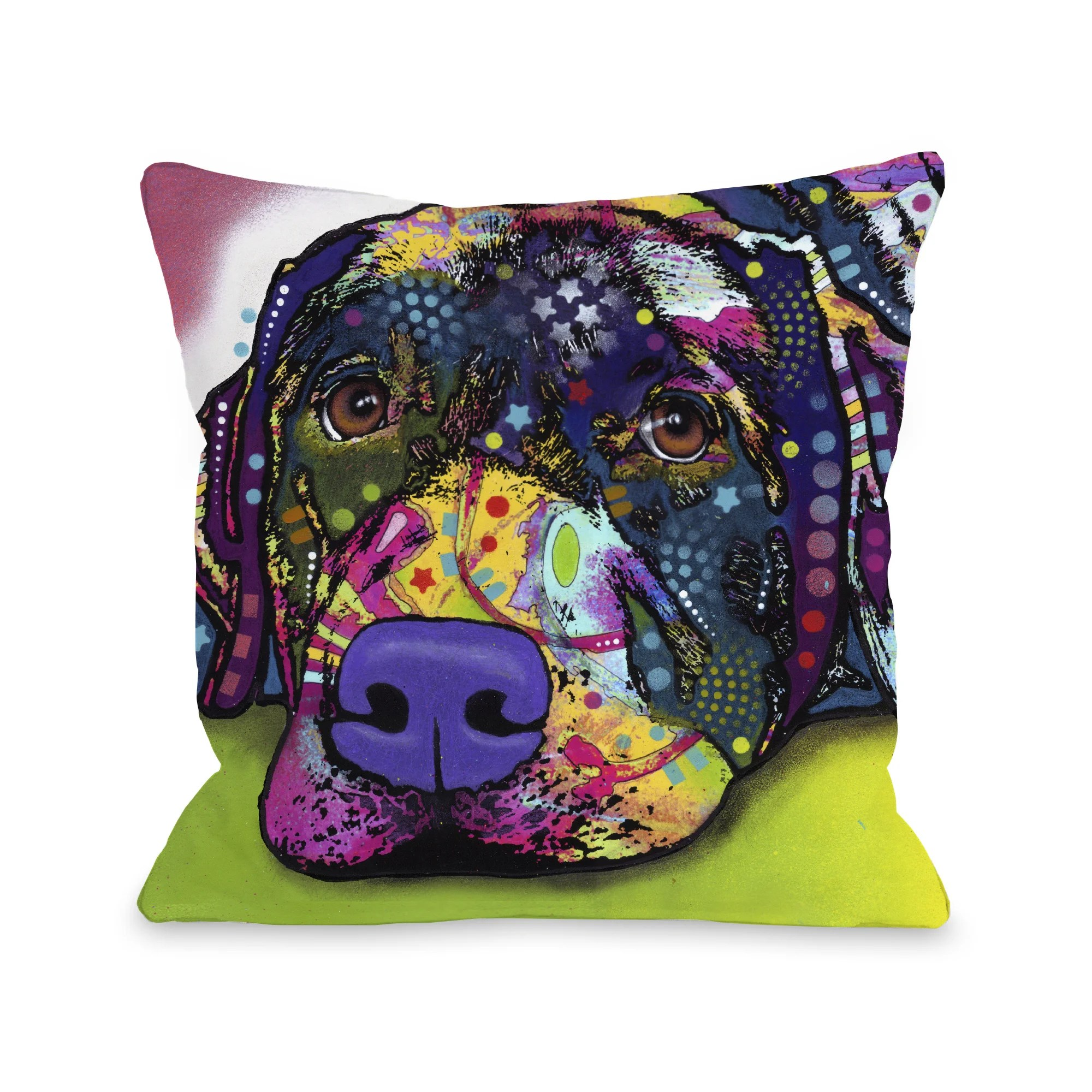 Savvy Labrador 16 or 18 Inch Throw Pillow by Dean Russo
