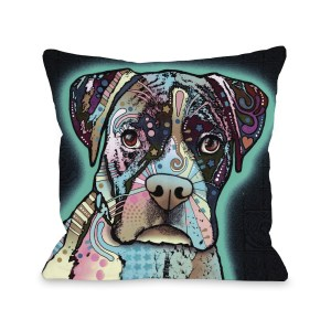 Love Thy Boxer 16 or 18 Inch Throw Pillow by Dean Russo