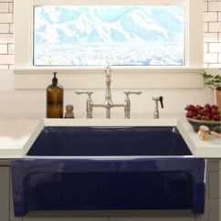 Blue Kitchen Sink Cheap Backsplash Buy Sinks Online At Overstock Com Our Best Deals Highpoint Collection Cobalt Reversible Farmhouse Fireclay