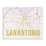Shop Kavka Designs San Antonio Pink Sunset Pink Purple Gold White Canvas Art Overstock 17077143