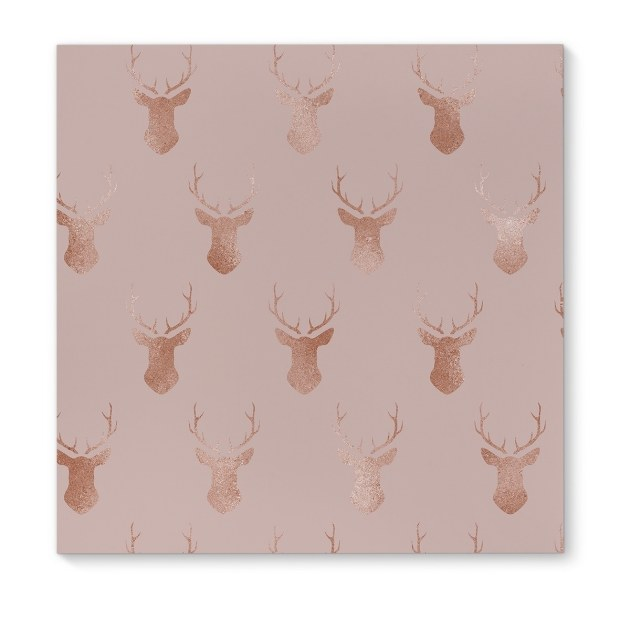 Kavka Designs Deer Rose Pink/Rose Canvas Art