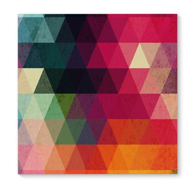 Kavka Designs Many Colors Red/Pink/Orange/Green/Blue/Yellow Canvas Art