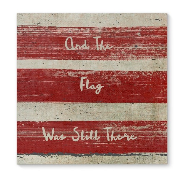 Kavka Designs Flag Red/Ivory Canvas Art