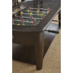 Greyson Living Darlington Dark Walnut Wood Glass Foosball Coffee Table Overstock 17116003